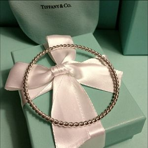 T &Co.STERLING SILVER Twist Bangle Bracelet & Ring